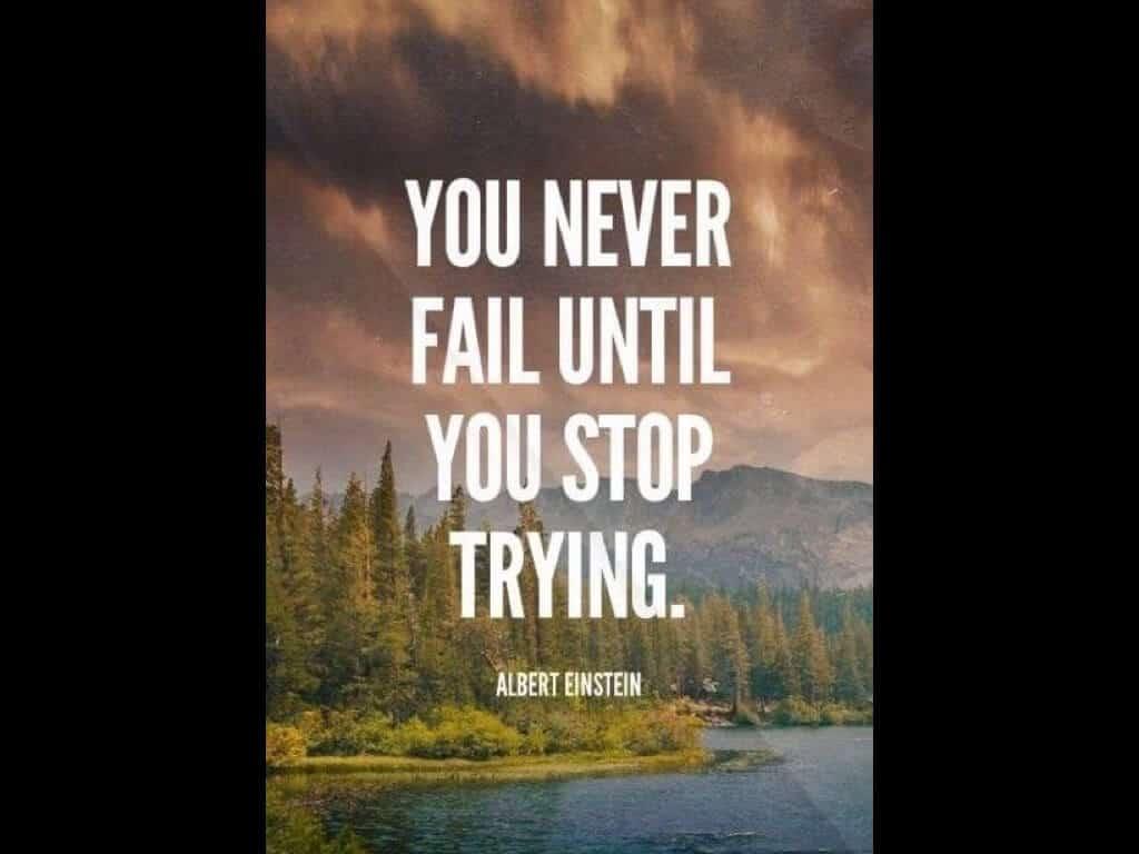 停止嘗試之前,都還有路