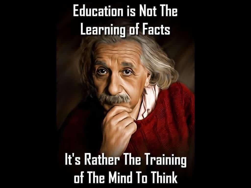 教育的目的,不是答案,而是,思考的能力