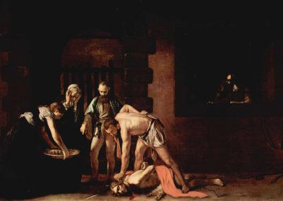 《被斬首的聖施洗者約翰》,1608年