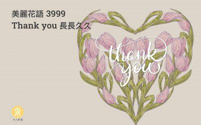 美麗花語 3999 Thank you 長長久久