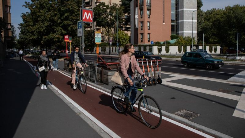 New cycle paths have proved popular in Milan